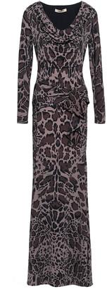 Roberto Cavalli Leopard-print Stretch-jersey Maxi Dress