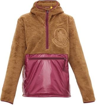 2 Moncler 1952 - Hooded Fleece And Shell Half-zip Jacket - Purple