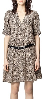 Zadig & Voltaire Russel Leopard Printed Dress