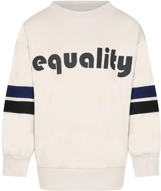Molo Ivory Kids Sweatshirt With Writing