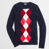 J.Crew Factory Argyle Teddie sweater