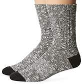 PowerSox Men's Bootsocks Medium Cushion Cotton Short Crew Socks, 2 Pairs