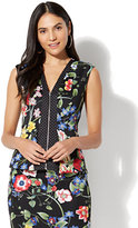 New York & Co. 7th Avenue - V-Neck Peplum Top
