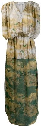 AILANTO Sleeveless Bird Scene Dress