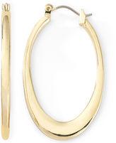 Liz Claiborne Gold-Tone Oval Hoop Earrings