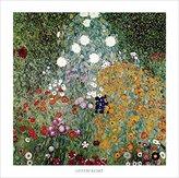 Gustav 1art1 Posters Klimt Poster Art Print - Giardino Fiorito (28 x 28 inches)