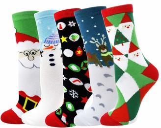 LITTONE Women's Cozy Cotton Christmas Ankle Socks (SDJ002#)