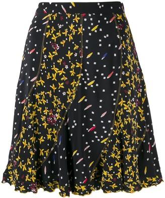 Derek Lam 10 Crosby Bronte Mixed Jasmine Floral Print Flare skirt