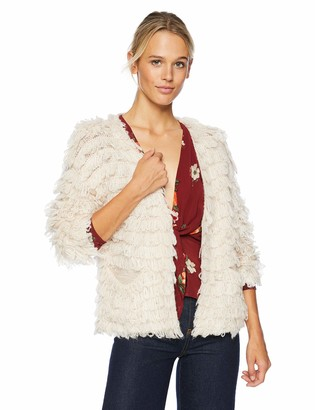 ASTR the Label Women's Darby Shaggy Knit Cardigan with Front Pockets