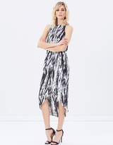 DECJUBA Julia Print Sleeveless Drape Dress