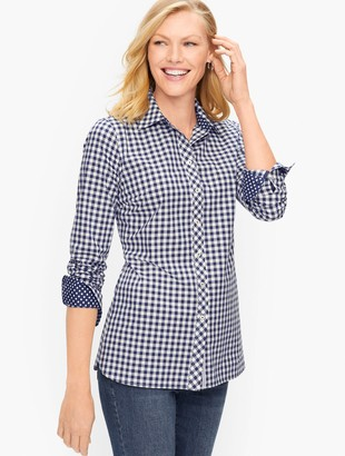 Talbots Classic Cotton Shirt - Simple Gingham