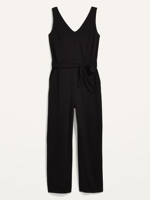 Old Navy Sleeveless Ponte-Knit Tie-Belt Jumpsuit for Women