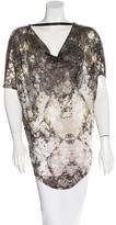 Helmut Lang Printed Cowl Neck Top w/ Tags