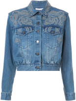 Alice + Olivia Alice+Olivia studded detail denim jacket