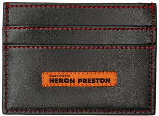 Heron Preston Black Style Squared C Flat Card Holder