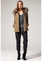 L'Agence Faux Fur Hooded Coat