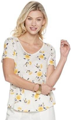 Sonoma Goods For Life Petite Essential Print V-Neck Tee