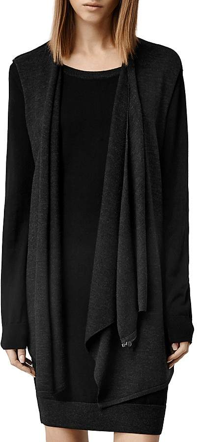 AllSaints Drina Draped Layer Dress