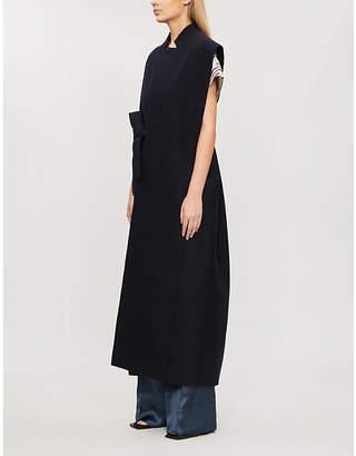 Jil Sander Sleeveless belted wool-blend coat