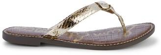 Sam Edelman Giles Metallic Toe-Thong Flats