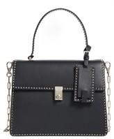 Valentino Garavani Rockstud Calfskin Leather Single Handle Shoulder Bag - Black