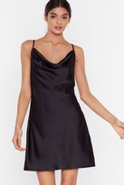 Nasty Gal Womens Sought After Satin Cowl Dress - Black - 10, Black