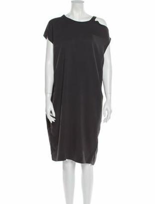 Brunello Cucinelli Crew Neck Knee-Length Dress w/ Tags Grey