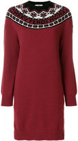 Fendi embroidered short knit dress