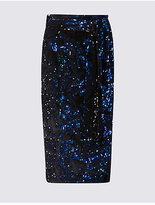 M&S Collection Embellished Sequin Pencil Midi Skirt