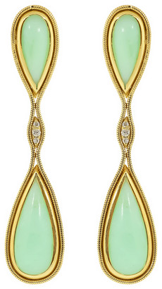 Fernando Jorge Chrysoprase Fluid Earrings