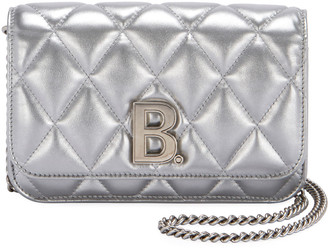 Balenciaga B Quilted Wallet On Chain