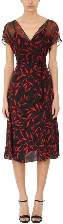Diane von Furstenberg Leaf Print Empire Waist Dress