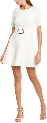 Twin-Set Twinset Belted Wool-Blend A-Line Dress