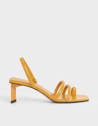 Charles & Keith Toe Loop Strappy Slingback Heels