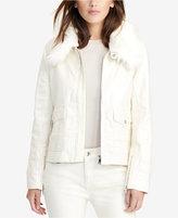 Lauren Ralph Lauren Coated Stretch Denim Jacket