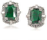 Carolee Wall Street Emerald Button Clip-On Earrings