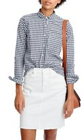 J.Crew Women's Gingham Club Collar Boy Shirt