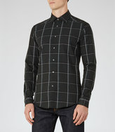 Reiss Reiss Pastrana - Window Check Shirt In Green