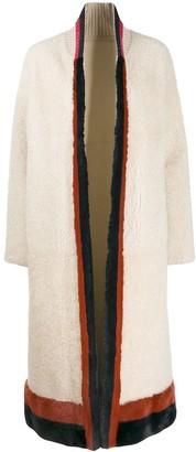 Cara Mila Keila shearling reversible coat