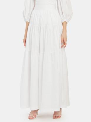 STAUD Sea Tiered Maxi Skirt