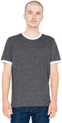 American Apparel Men's Mock Twist Jersey Crewneck Ringer T-Shirt