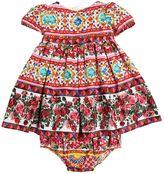 Dolce & Gabbana Mambo Print Cotton Dress & Diaper Cover