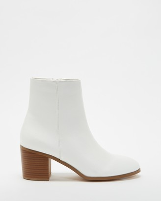 Spurr Women's White Heeled Boots - Jason Ankle Boots - Size 5 at The Iconic