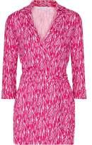 Diane von Furstenberg Celeste Wrap-Effect Printed Silk-Jersey Playsuit