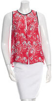 A.L.C. Cherry Blossom Print Sleeveless Top