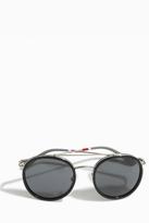 Orlebar Brown Round Metal Rim Sunglasses