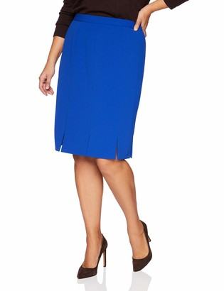 Kasper Women's Plus Size Crepe Carwash Skirt