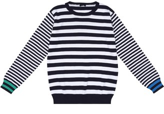Il Gufo Striped cotton sweater