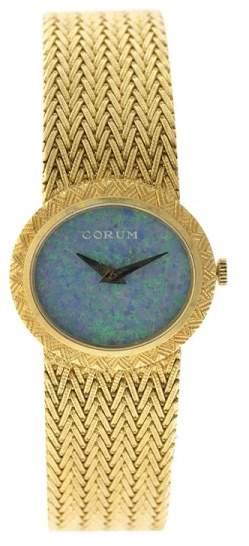 Corum 18K Yellow Gold Opal Dial Vintage Womens Watch