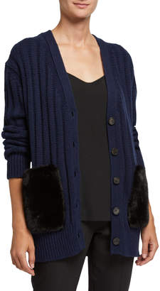 ADAM by Adam Lippes Wool-Cashmere Oversized Cardigan